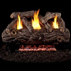 Peterson Real Fyre Golden Oak Designer Ventless Refractory Gas Log Set