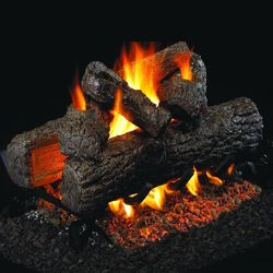 Peterson Real Fyre Golden Oak See Through Vented Gas Log Set