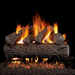 Peterson Real Fyre Post Oak Vented Gas Log Set