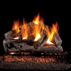 Peterson Real Fyre Rugged Oak Vented Gas Log Set