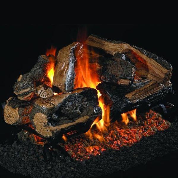 Peterson Real Fyre Rugged Split Oak Designer See Through Vented Gas Log Set image number 0