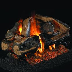 Peterson Real Fyre Rugged Split Oak Designer See Through Vented Gas Log Set