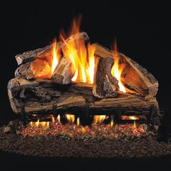 Peterson Real Fyre Rugged Split Oak Vented Gas Log Set