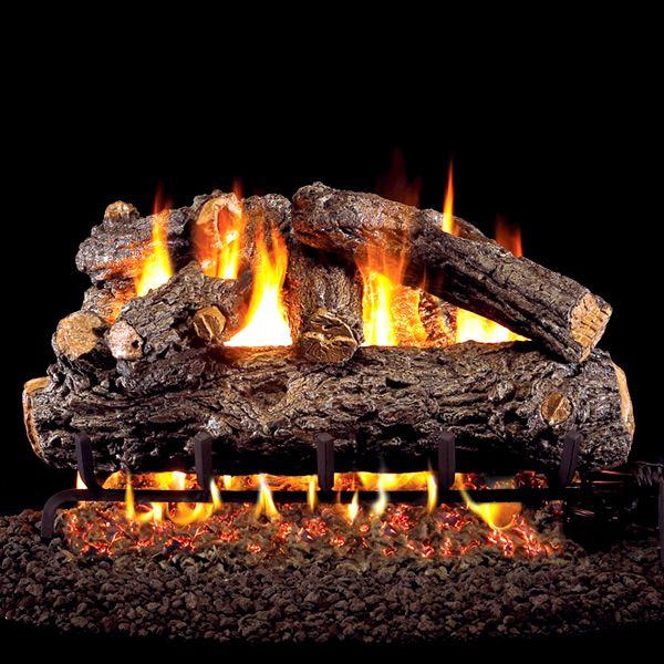 Peterson Real Fyre Rustic Oak Designer Vented Gas Log Set image number 0