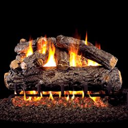 Peterson Real Fyre Rustic Oak Designer Vented Gas Log Set