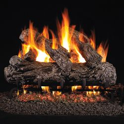 Peterson Real Fyre Rustic Oak Vented Gas Log Set