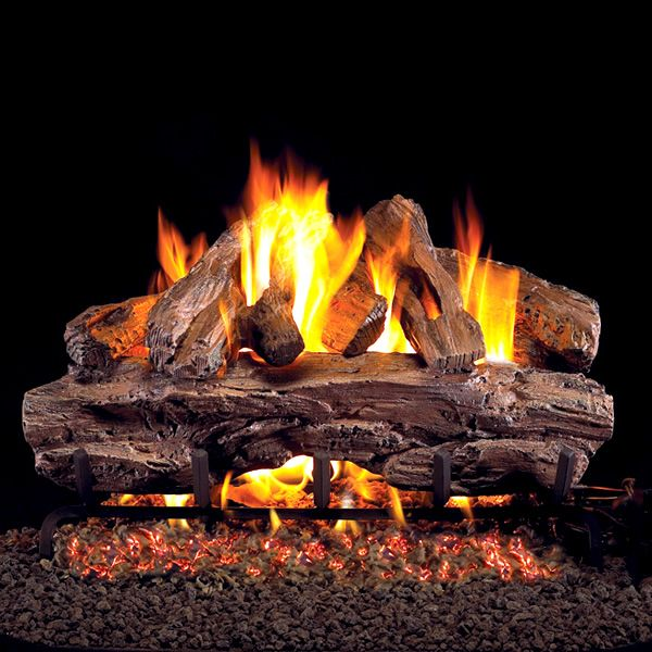 Peterson Real Fyre Red Oak ANSI Vented Refractory Gas Log Set image number 0
