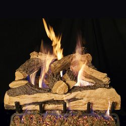 Peterson Real Fyre Split Oak Designer Plus ANSI Vented Gas Log Set