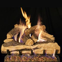 Peterson Real Fyre Split Oak Designer Plus Vented Gas Log Set
