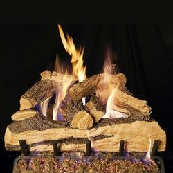 Peterson Real Fyre Split Oak Designer See Through Vented Gas Log Set