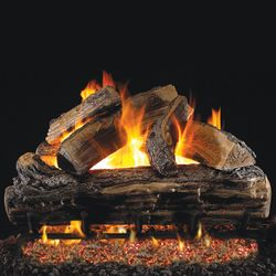 Peterson Real Fyre Split Oak Vented Gas Log Set