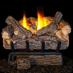 Peterson Real Fyre Valley Oak Ventless Refractory Gas Log Set
