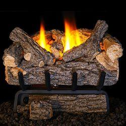 Peterson Real Fyre Valley Oak Ventless Refractory Gas Log Set