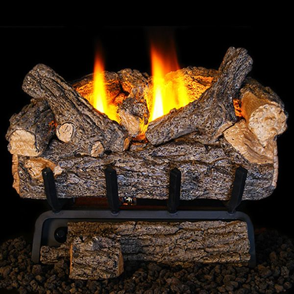Peterson Real Fyre Valley Oak Ventless Refractory Gas Log Set image number 0