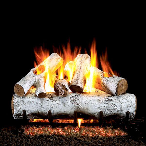 Peterson Real Fyre White Birch ANSI Vented Gas Log Set image number 0