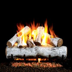 Peterson Real Fyre White Birch ANSI Vented Gas Log Set