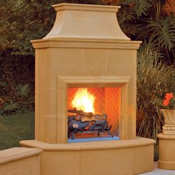 Petite Cordova Vent Free Outdoor Gas Fireplace