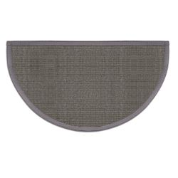 Pewter Grey Sunset Natural Sisal Half Round Rug