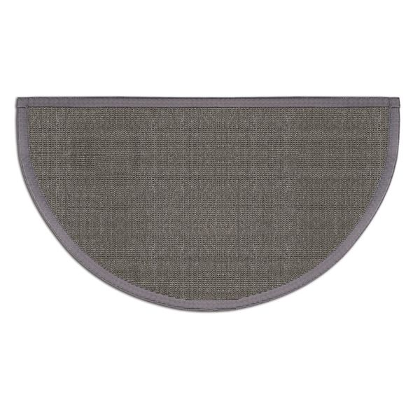 Pewter Grey Sunset Natural Sisal Half Round Rug image number 0