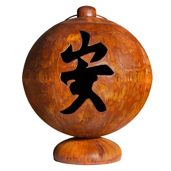 Peace, Happiness, and Tranquility Wood Burning Fire Globe image number 2