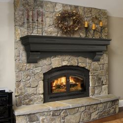 Pearl Celeste Espresso Fireplace Mantel Shelf