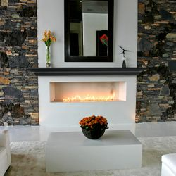 Pearl Crestwood Black Fireplace Mantel Shelf