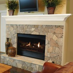 Pearl Crestwood White Fireplace Mantel Shelf