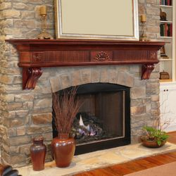 Pearl Devonshire Cherry Fireplace Mantel Shelf