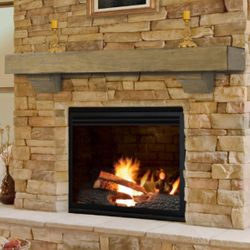 Pearl Shenandoah Dune Fireplace Mantel Shelf
