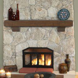 Pearl Shenandoah Cherry Rustic Fireplace Mantel Shelf