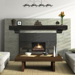 Pearl Shenandoah Espresso Fireplace Mantel Shelf