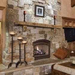Pearl Pearl Leather Cast Stone Fireplace Mantel Shelf