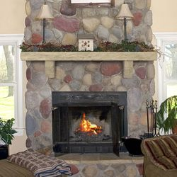 Pearl Pearl Natural Cast Stone Fireplace Mantel Shelf