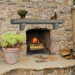Pearl Smoke Cast Stone Fireplace Mantel Shelf