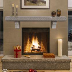 Pearl Reclaimed Pine Driftwood Fireplace Mantel Shelf