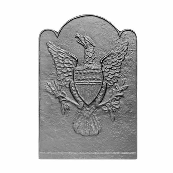 Pennsylvania Firebacks Eagle & Shield Cast Iron Fireback image number 0