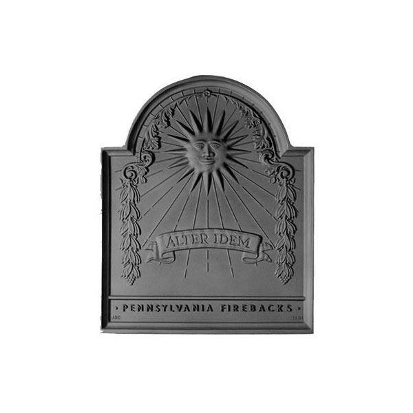 Pennsylvania Firebacks Franklin Sun Cast Iron Fireback image number 0