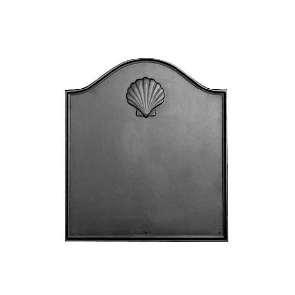 Pennsylvania Firebacks Georgian Shell Cast Iron Fireback image number 0