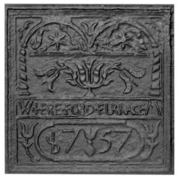 Pennsylvania Firebacks  Hereford Stove Plate Cast Iron Fireback image number 0