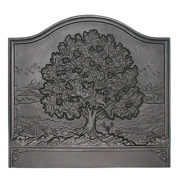 Pennsylvania Firebacks Large Oak Cast Iron Fireback image number 0