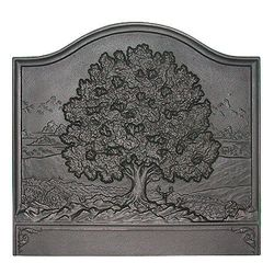 Pennsylvania Firebacks Large Oak Cast Iron Fireback