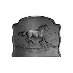 Pennsylvania Firebacks Night Horse Cast Iron Fireback