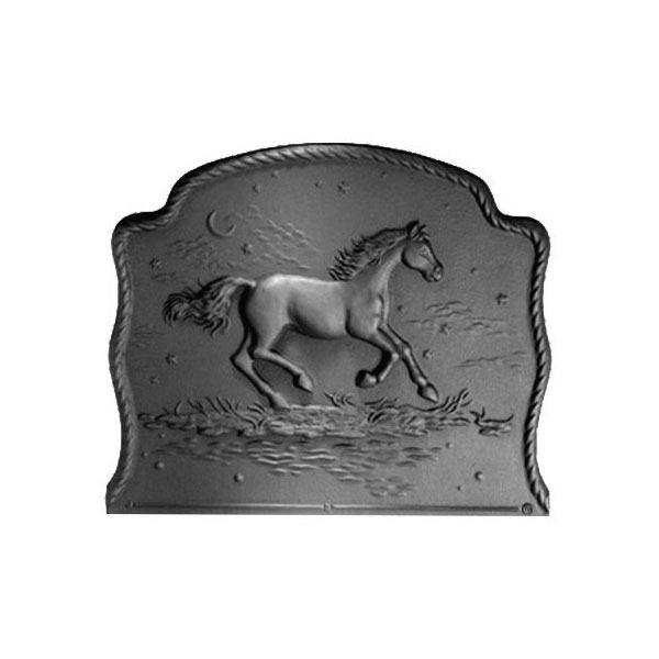 Pennsylvania Firebacks Night Horse Cast Iron Fireback image number 0