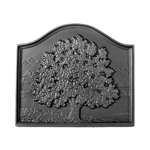 Pennsylvania Firebacks Small Oak Cast Iron Fireback image number 0