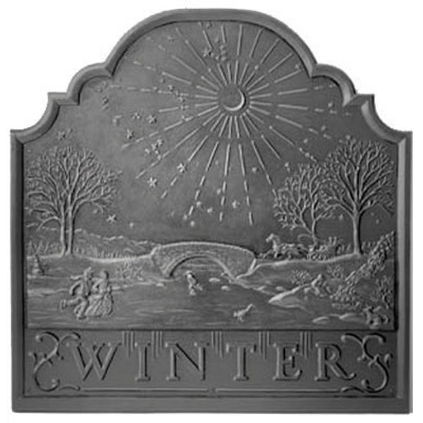 Pennsylvania Firebacks Winter Cast Iron Fireback image number 0