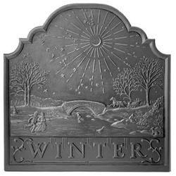 Pennsylvania Firebacks Winter Cast Iron Fireback