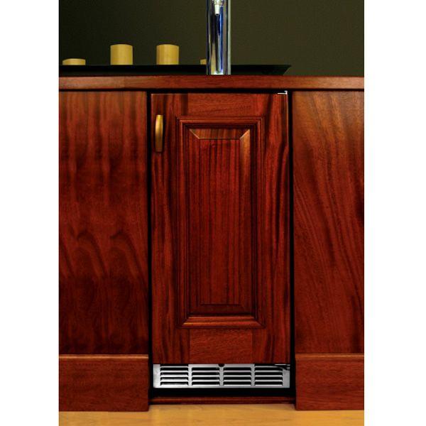 """Perlick Stainless Steel Outdoor Beer Dispenser with Solid Wood Overlay Door - 15"""" image number 0"""
