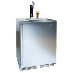Perlick Stainless Steel Outdoor Dual Faucet Beer Dispenser - 24""