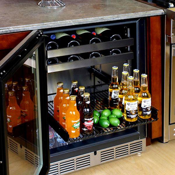 """Perlick Stainless Steel Outdoor Beverage Center with Glass Door - 24"""" image number 1"""