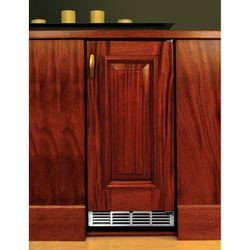 """Perlick Stainless Steel Outdoor Refrigerator with Solid Wood Overlay Door - 15"""""""